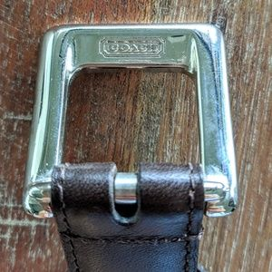 Coach Italian Dark Brown Leather Belt Small EUC
